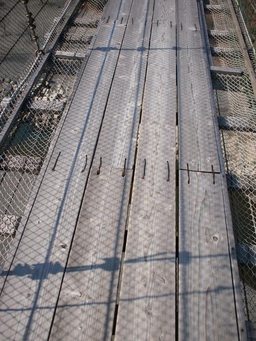 谷瀬の吊り橋 写真5