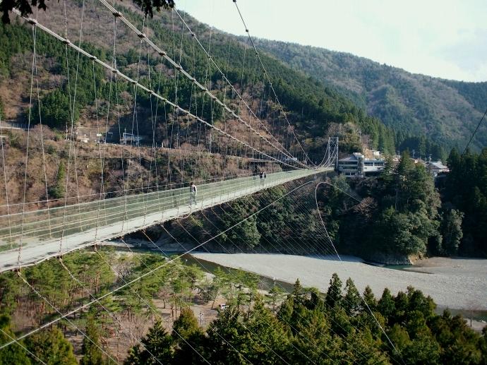 谷瀬の吊り橋 写真8