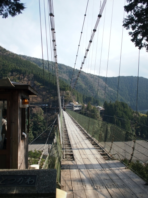 谷瀬の吊り橋 写真7