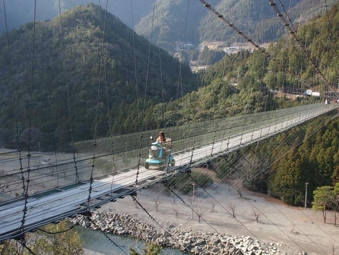谷瀬の吊り橋 写真10