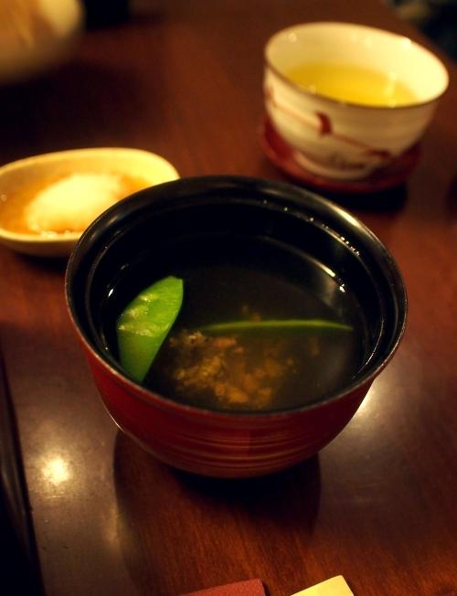 野田岩 パリ 鰻重定食 吸い物