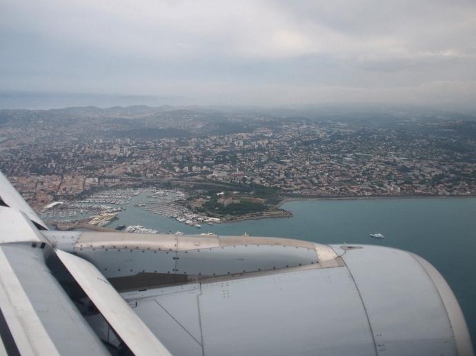 南フランス旅行 ニース上空