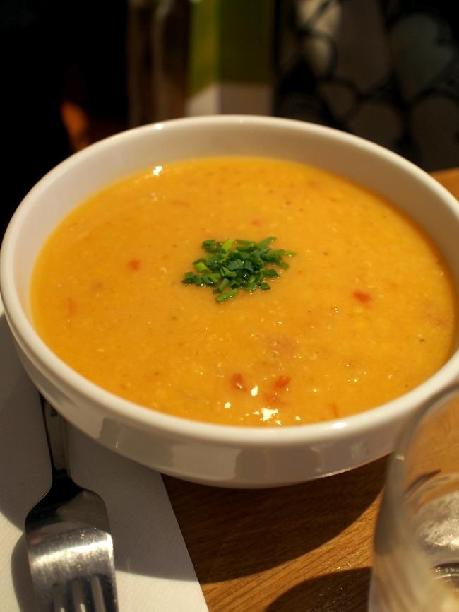 Le Troquet à Soupes Potage Lentilles Corail au lait de Coco