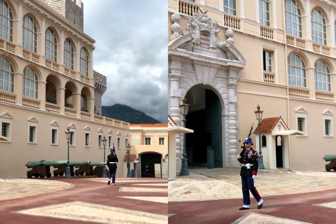 モナコ大公宮殿 大公銃騎兵中隊