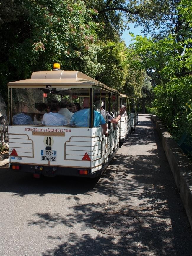 ニースの城跡公園 Petit Train