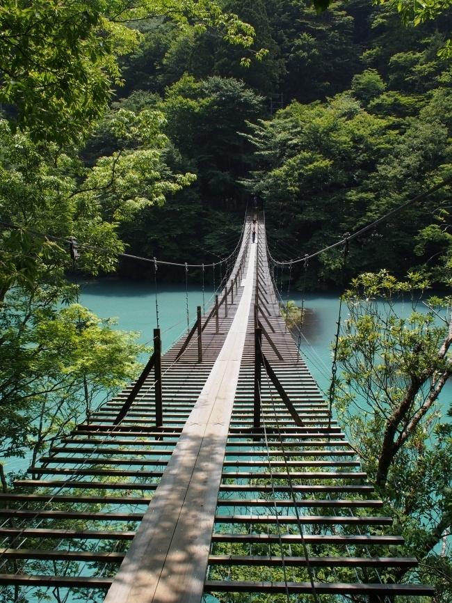 寸又峡 夢の吊橋 6 引き返し