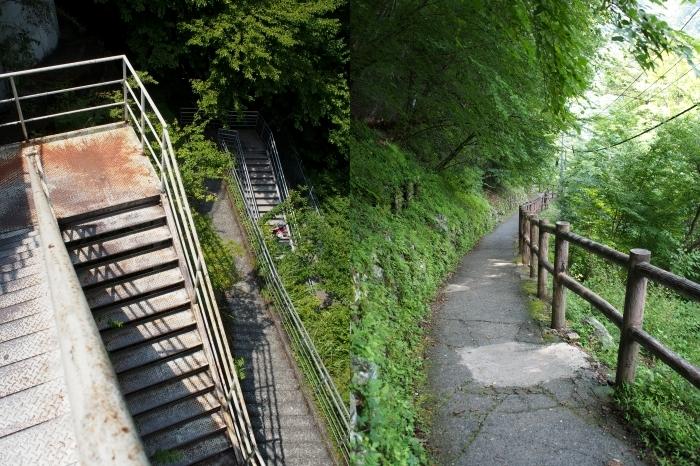 階段を下って夢の吊橋へ
