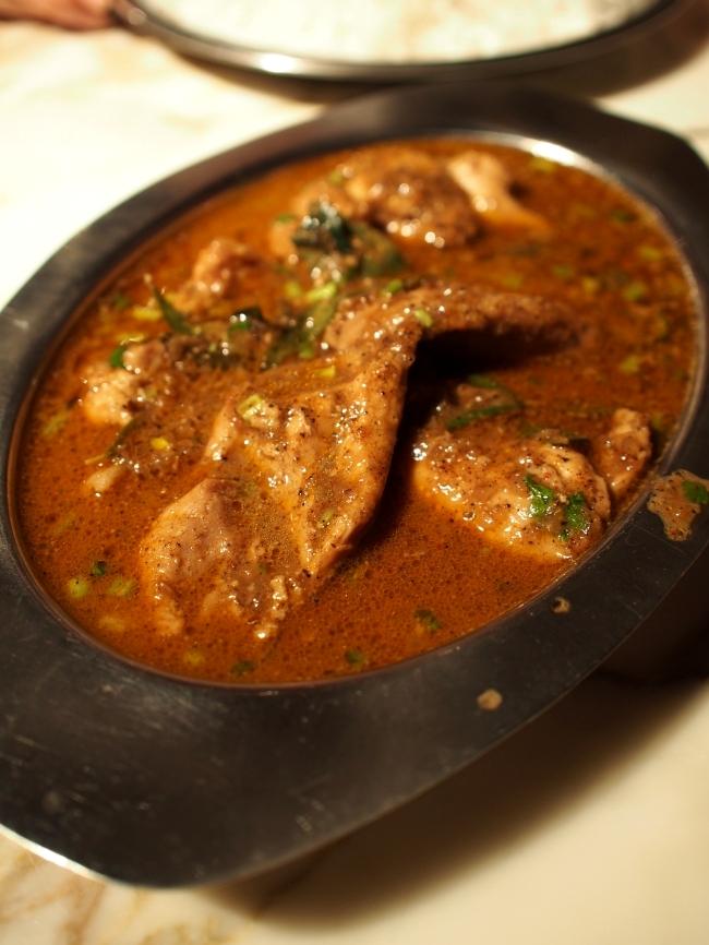 サンバレーホテル ディナー Chicken Chettinadu