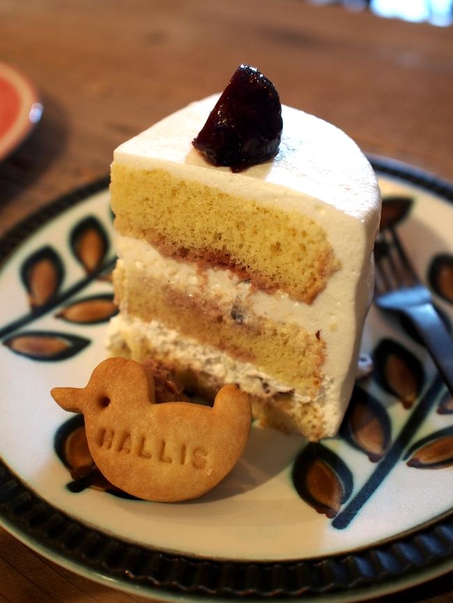 ハリスカフェ 自家製栗の渋皮煮ショートケーキ