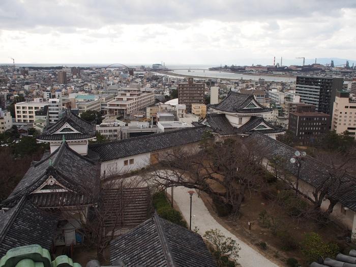 和歌山城の天守からの眺め3