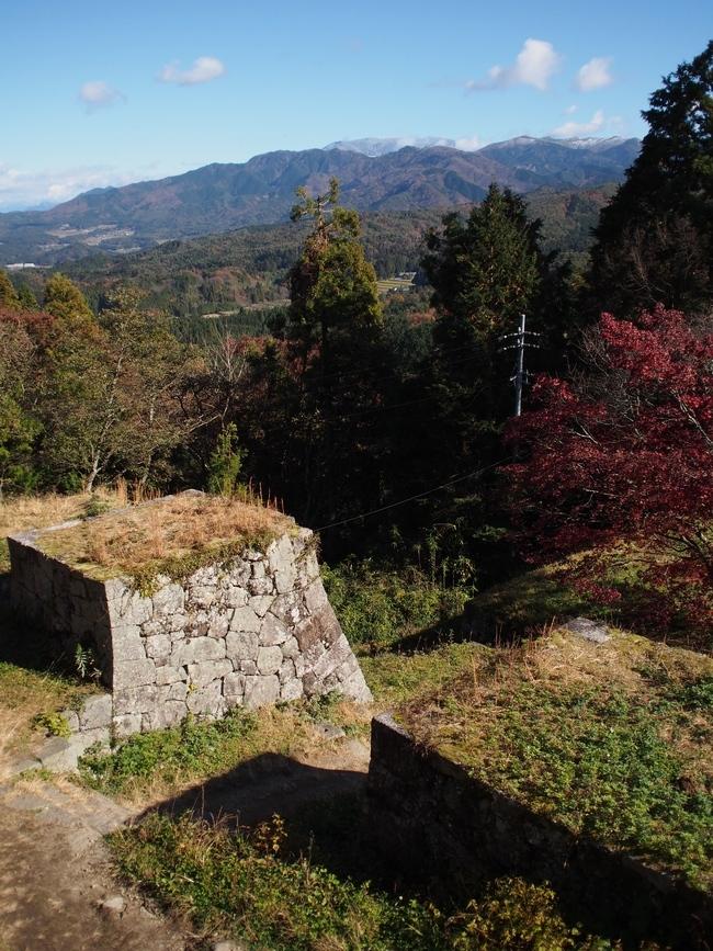 岩村城跡 長局埋門跡と景色