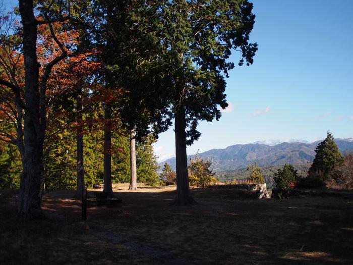 岩村城跡 本丸跡からの景色
