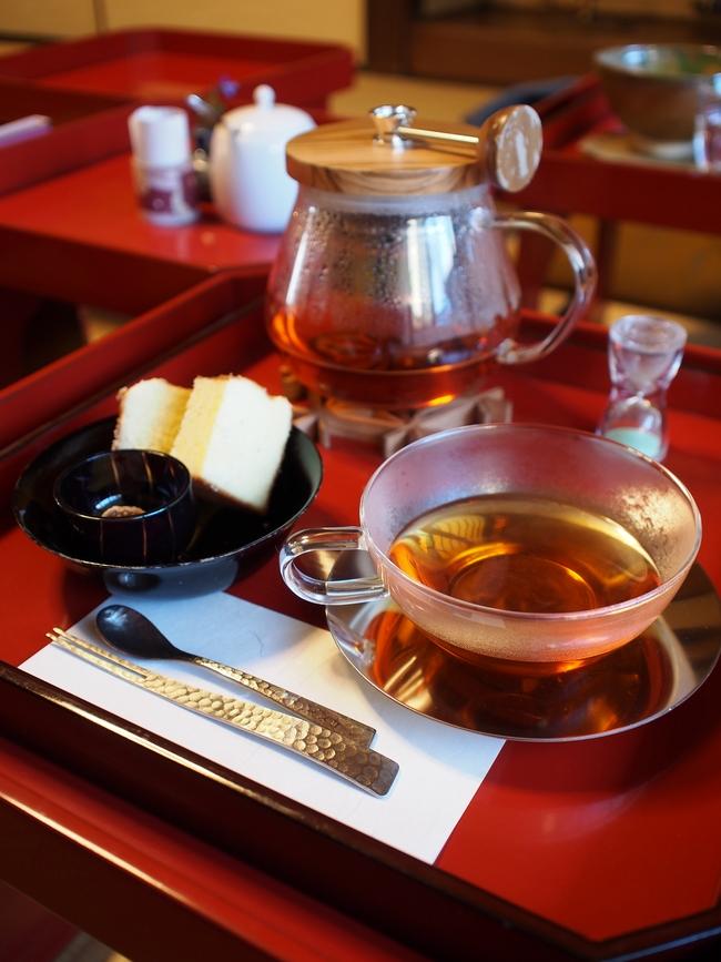 カステラCafeカメヤ 和紅茶セット