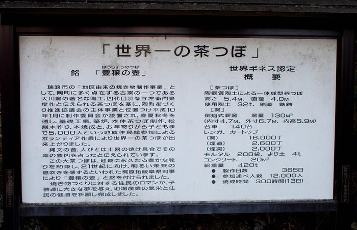世界一の茶つぼ 説明板