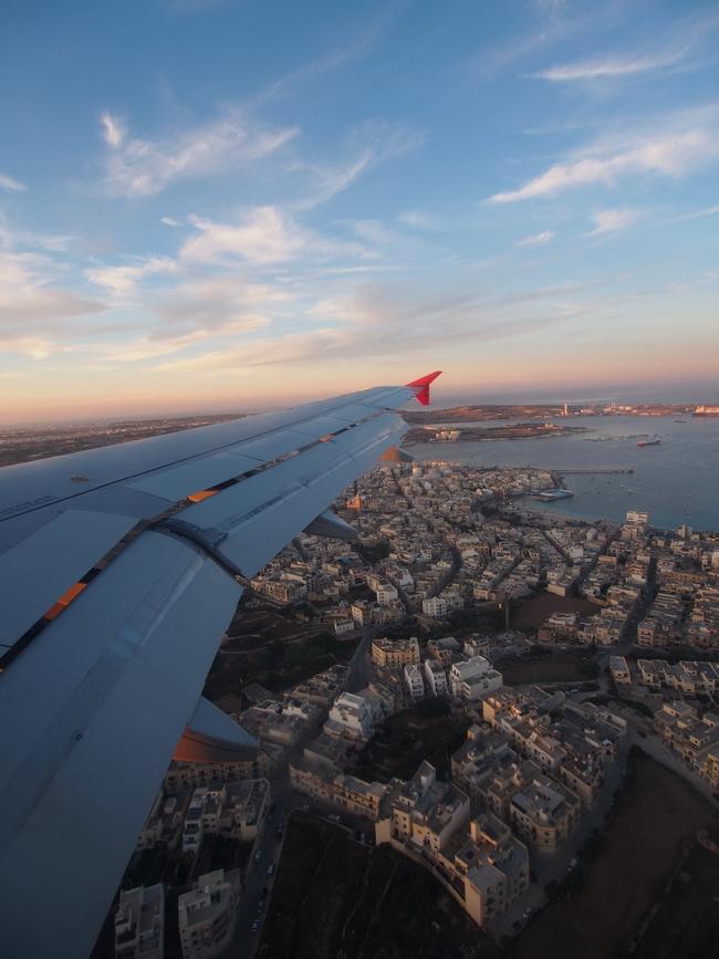 マルタ航空 フライト3着陸前