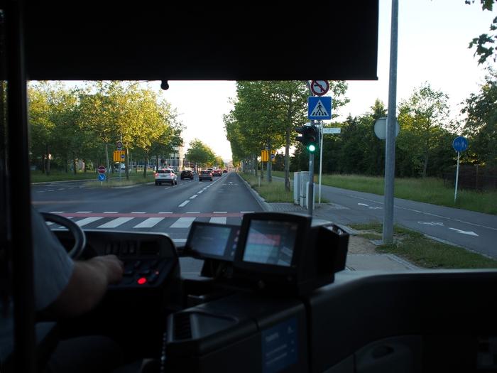 マルタからルクセンブルクへ バス車内から