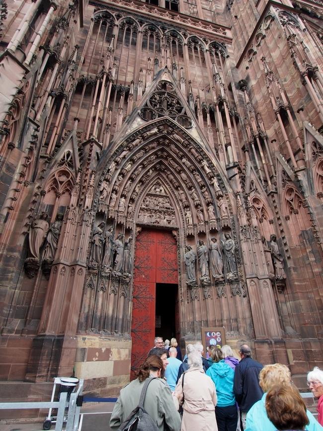 ストラスブール大聖堂の入口