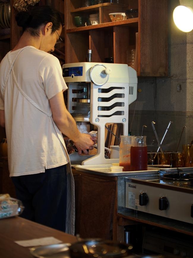 喫茶クロカワのかき氷 かき氷機