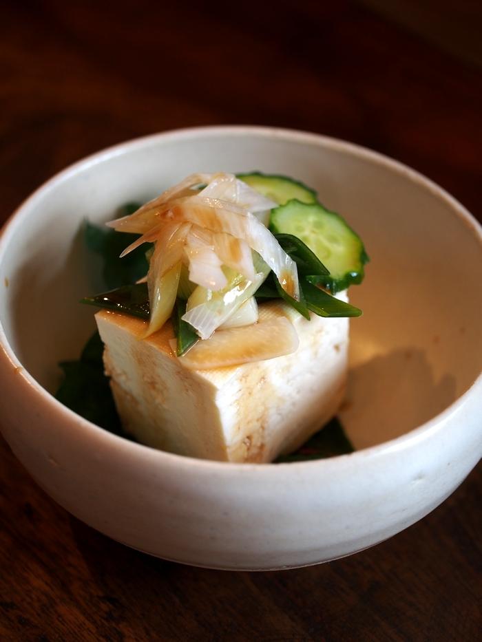 マルカフェ スモーブロランチの豆腐