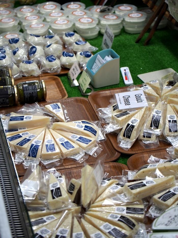 長門牧場 売店の乳製品