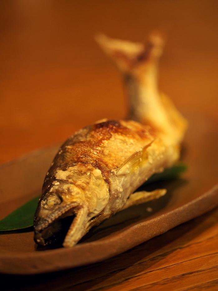 三水館の料理 鮎の塩焼き
