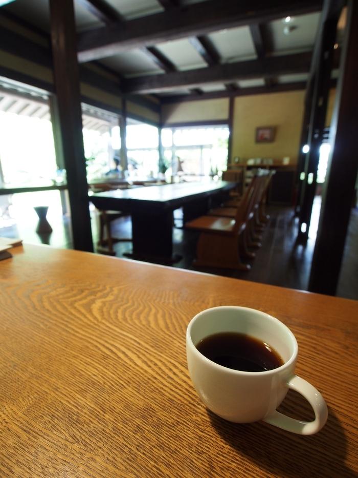三水館の朝食後のコーヒー