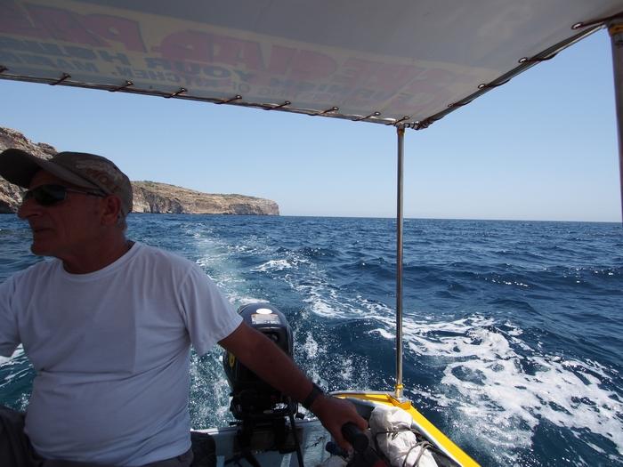 ブルーグロット ボート乗り場へ引き返す