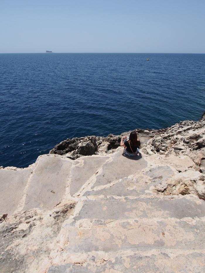 Filfla島が見える