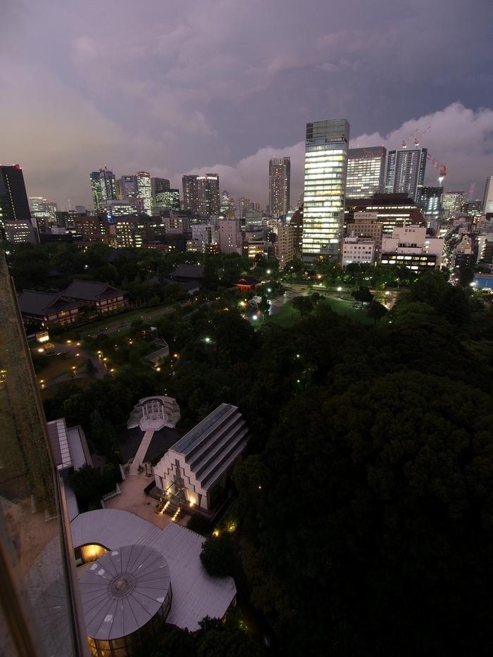 ザ・プリンスパークタワー東京の客室からの眺め