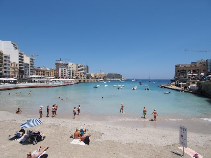 Balluta Bay Beach(バルータベイビーチ) マルタ旅行最終日