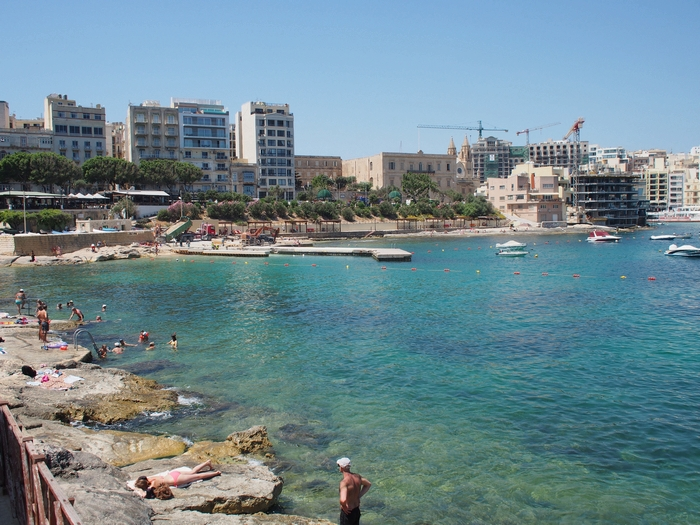 Exiles Bay(エキシルズ湾) マルタ旅行最終日