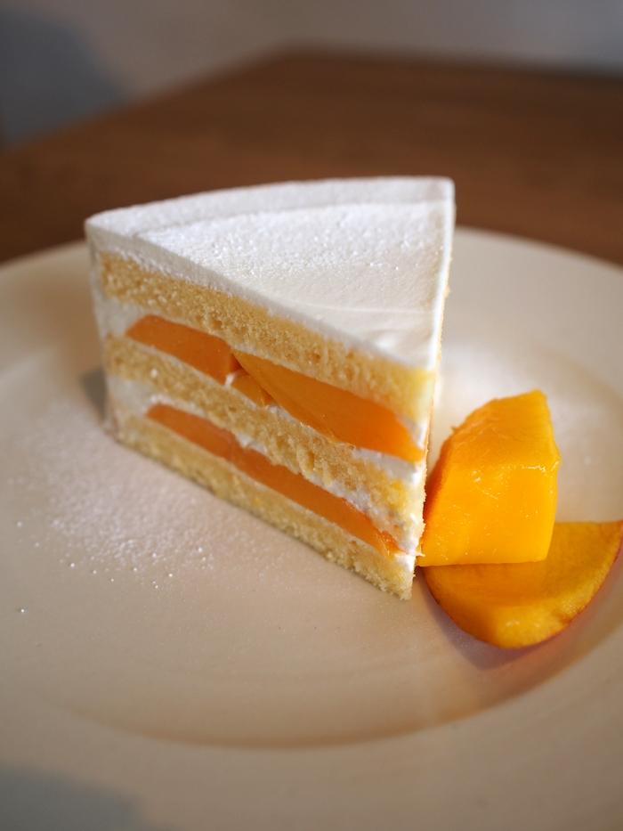 haru.coffee&cakes マンゴーのショートケーキ