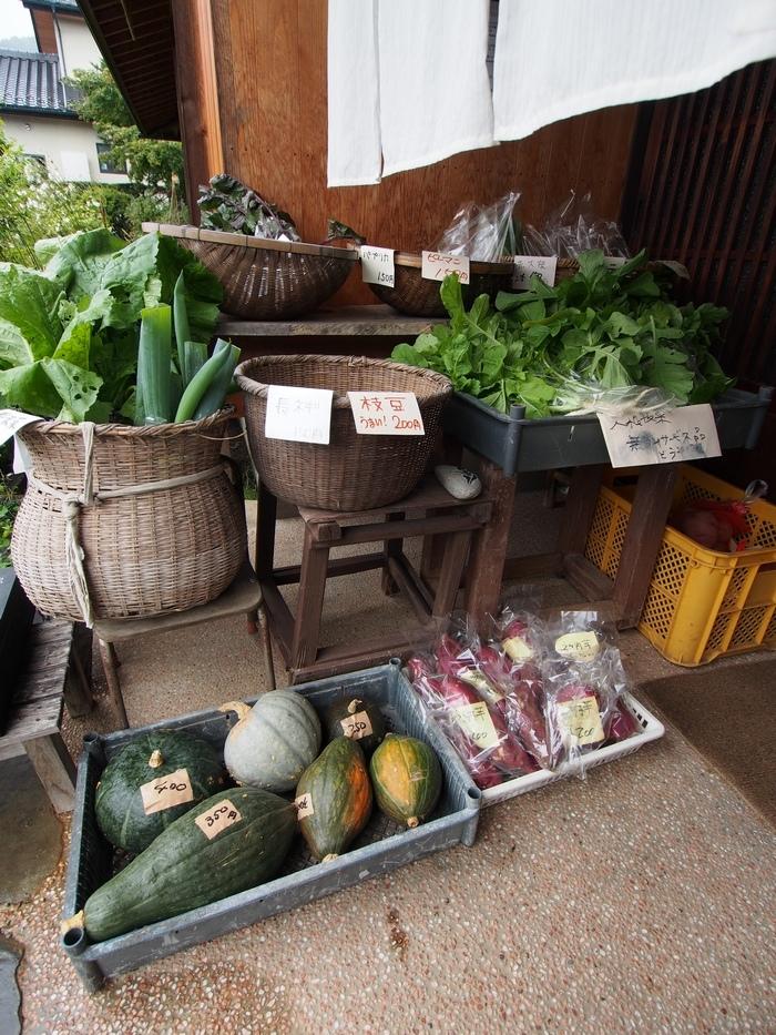 朝日そばふじもり 野菜の販売