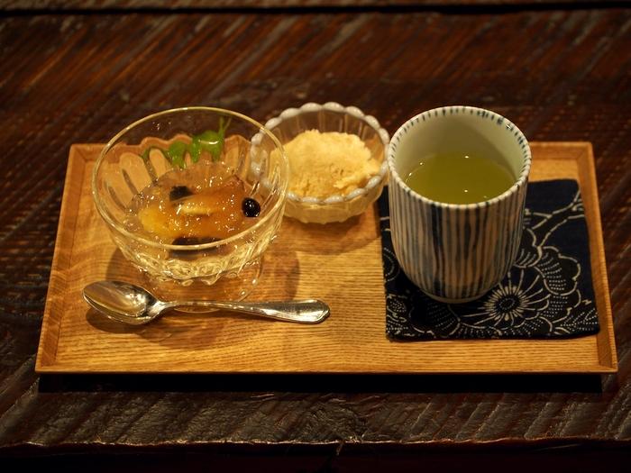 三水館 麦茶のアイスクリーム イチジクのコンポートゼリー